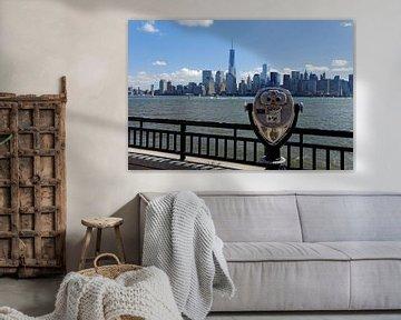 Manhattan Skyline van Borg Enders
