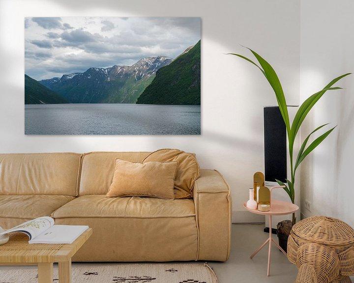 Sfeerimpressie: Uitzicht op het Geirangerfjord, Noorwegen van Capture the Light