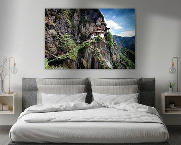 Paro Tatsang / Tiger's nest klooster von Paul Piebinga