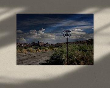 Route 66 in Californie/Arizona von Louise Poortvliet