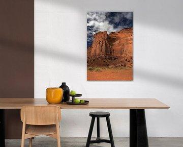 Rain God Mesa in Monument Valley von Louise Poortvliet