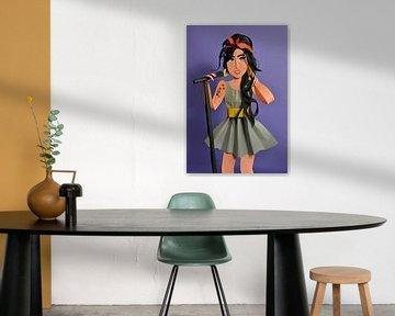 Amy Winehouse von Lonneke Leever