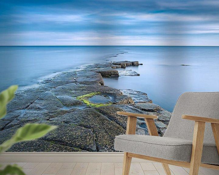 Sfeerimpressie behang: Kimmeridge Bay van Sander Poppe