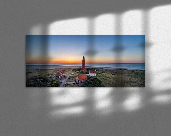 Sfeerimpressie: Vuurtoren Eierland Texel zonsondergang van Texel360Fotografie Richard Heerschap