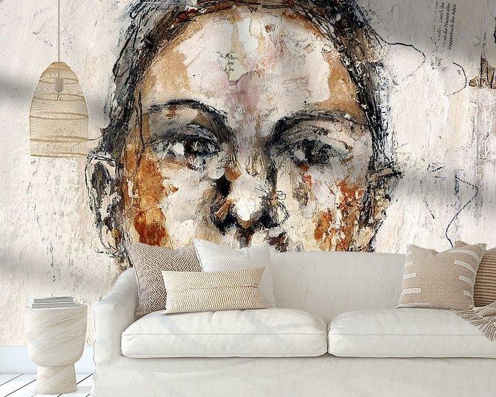 Sfeerimpressie behang: woman van Christin Lamade