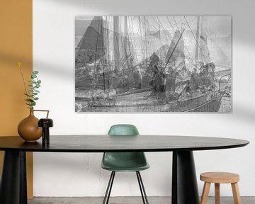 zwart wit foto klassieke schepen. von Johan Kalthof