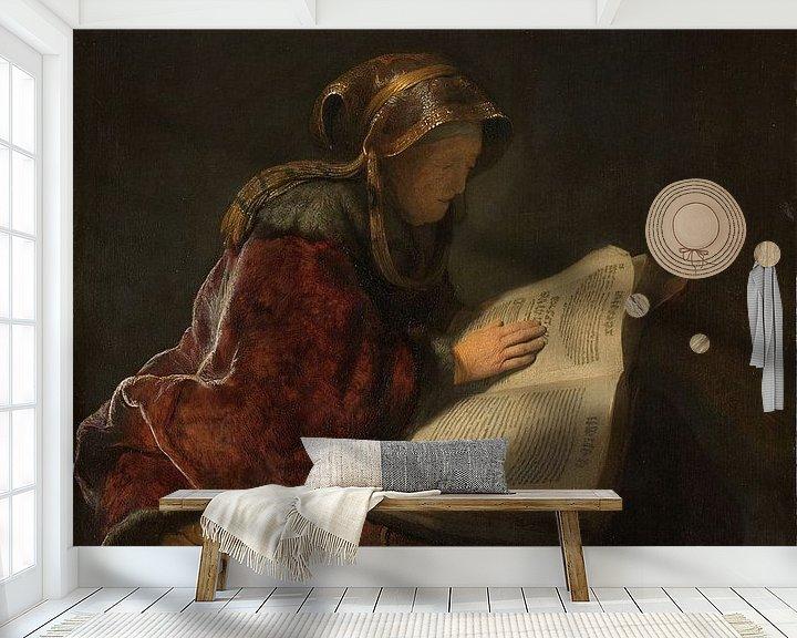 Beispiel fototapete: Lesende Alte, Rembrandt van Rijn