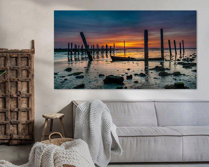 Sfeerimpressie: Haven van Sil Texel Zonsopkomst  van Texel360Fotografie Richard Heerschap