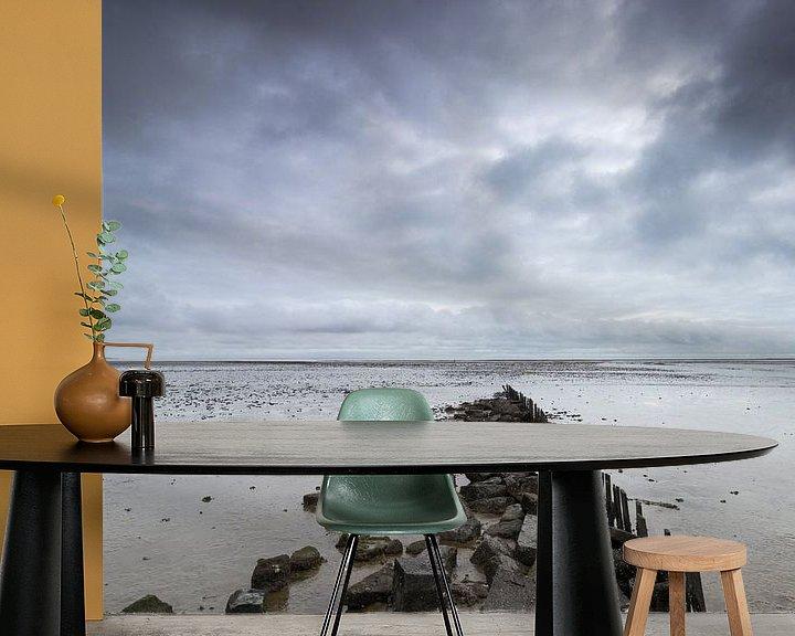 Impression: Walking in the sea. sur Nicole van As