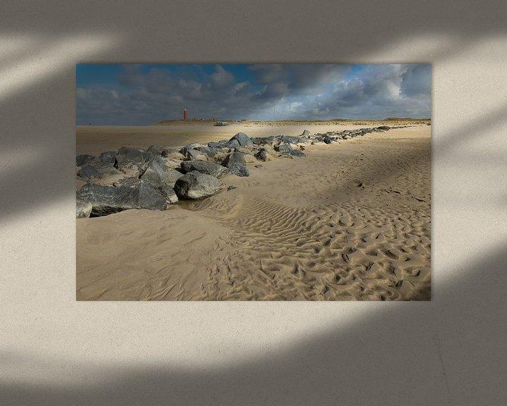 Impression: Boulders on the beach. sur Nicole van As