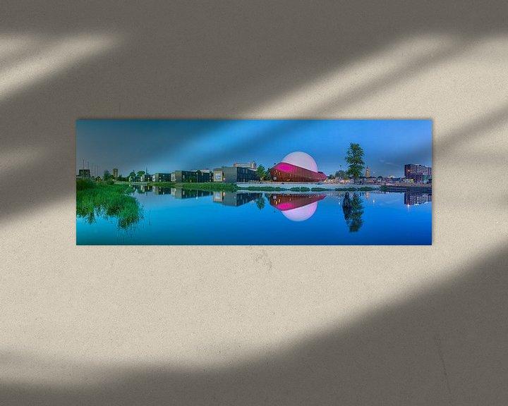 Beispiel: Panorama Restaurant DOT in Groningen met de Martinitoren op de achtergrond von Ron Buist