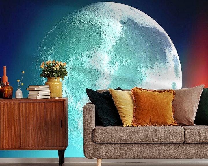 Beispiel fototapete: Moon Phase 1 N.4 von Olis-Art