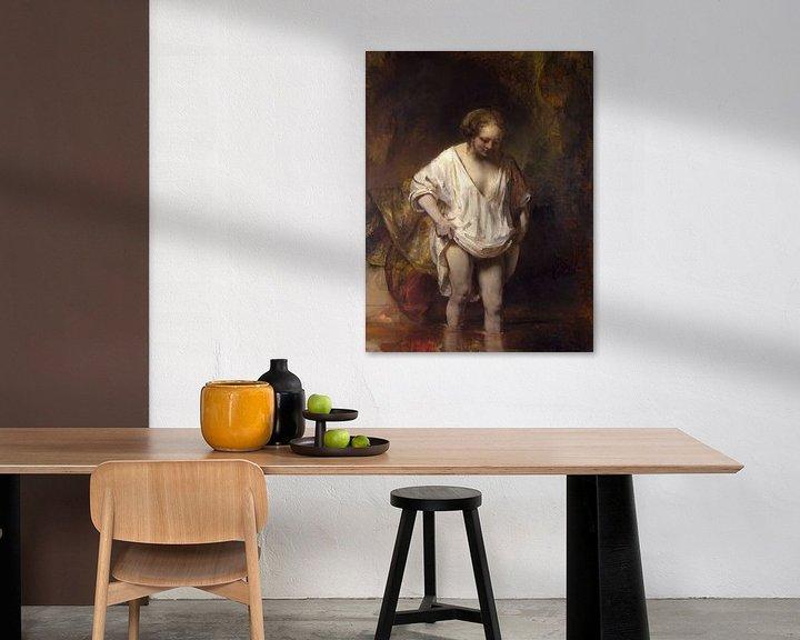 Beispiel: Badende Frau, Rembrandt van Rijn