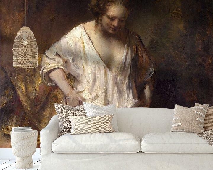 Beispiel fototapete: Badende Frau, Rembrandt van Rijn