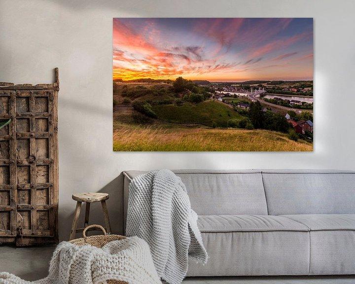 Sfeerimpressie: Zonsondergang in Kanne, Riemst van Bert Beckers