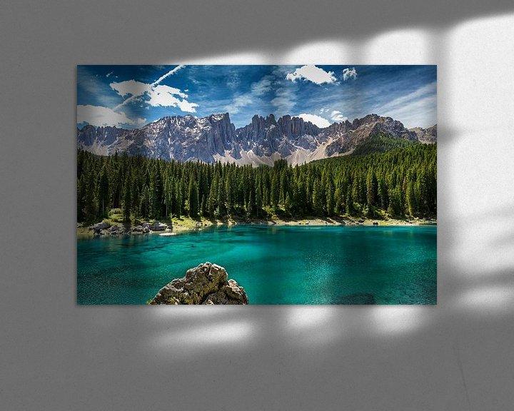 Sfeerimpressie: Lago di Carezza - Dolomieten van Bart Hendrix