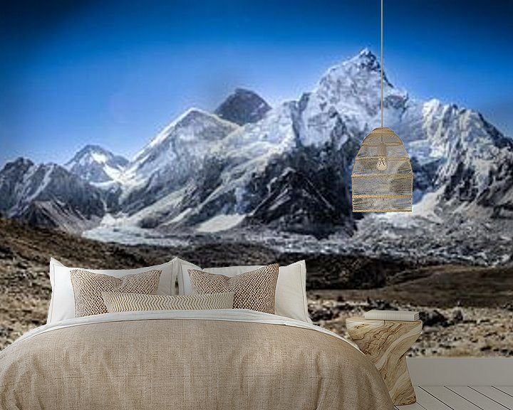 Sfeerimpressie behang: Mount Everest Panorama   van Björn Jeurgens