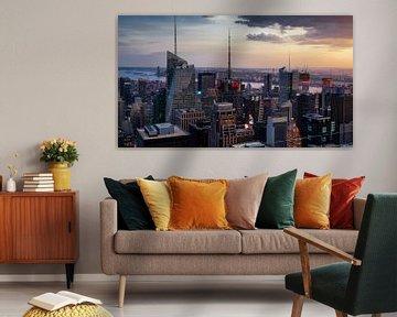 New York   im Sonnenuntergang van Kurt Krause