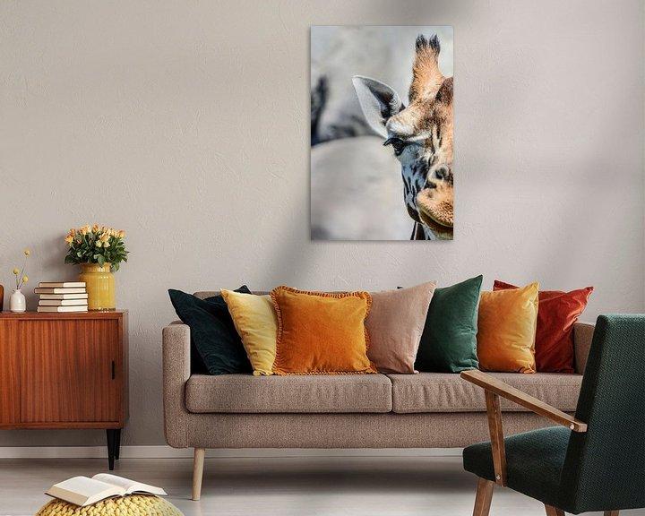 Beispiel: Giraf van dichtbij von Lisanne Bosch