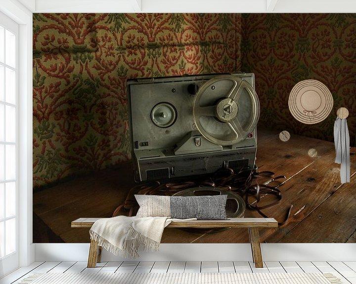 Beispiel fototapete: Een kapotte bandrecorder in een verlaten huis von Melvin Meijer
