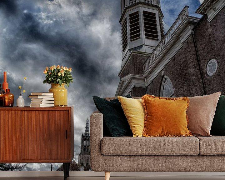 Beispiel fototapete: The Elleboog Church Amersfoort (Elbow Church) von Manuel Speksnijder