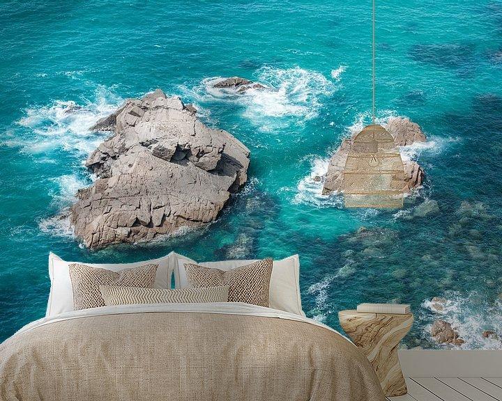 Sfeerimpressie behang: Rotsen bij Cabo da Roca van Ronne Vinkx