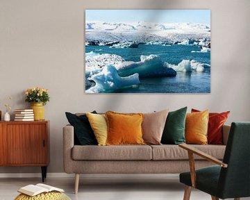 Gletsjermeer in IJsland van Ronne Vinkx
