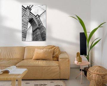Brooklyn Bridge in Detail von Merlijn Kerklaan