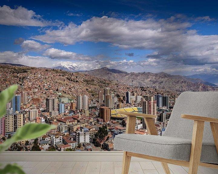 Sfeerimpressie behang: Bergen van La Paz van Ronne Vinkx
