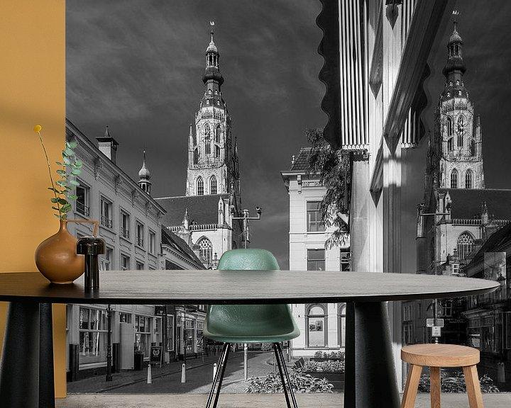 Sfeerimpressie behang: Grote Kerk Breda Reflectie van JPWFoto