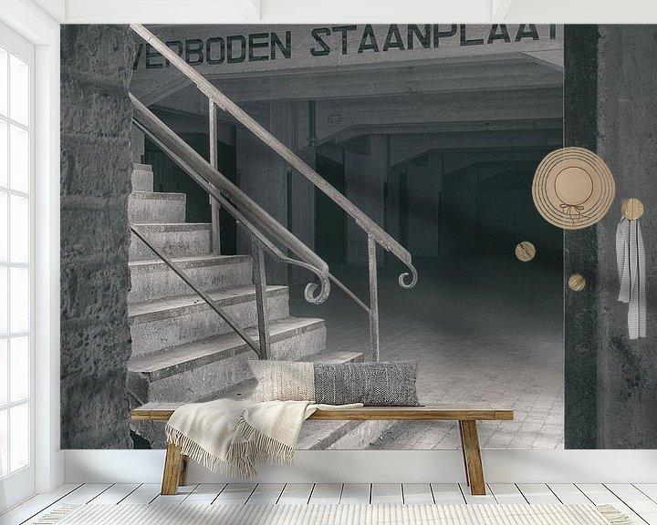 Beispiel fototapete: Verlaten plekken: Sphinx fabriek Maastricht keldertrap detail. von Olaf Kramer