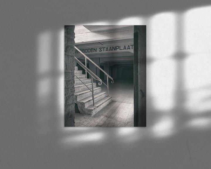 Beispiel: Verlaten plekken: Sphinx fabriek Maastricht keldertrap detail. von Olaf Kramer