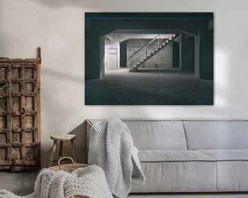 Verlaten plekken: Sphinx fabriek Maastricht keldertrap. sur Olaf Kramer