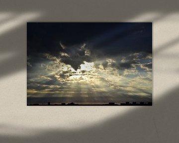 Ondergaande zon van Bert Veldman