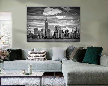 NEW YORK CITY Manhattan Skyline & Hudson River van Melanie Viola