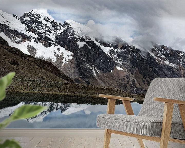 Sfeerimpressie behang: Punto Olimpico Cordillera Blanca Peru van Ellen van Drunen