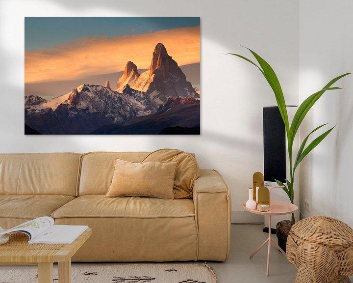 Sfeerimpressie: Fitz Roy Mountain tijdens zonsopkomst van Ellen van Drunen