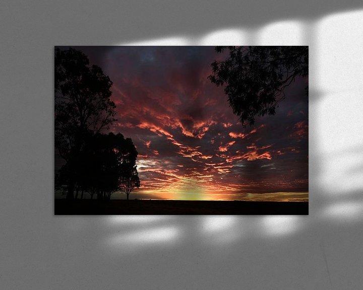 Sfeerimpressie: Zonsondergang in Patagonie Argentinië van Ellen van Drunen