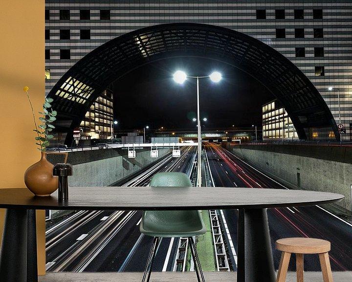 Sfeerimpressie behang: Utrechtse Baan, Den Haag van Tom Roeleveld
