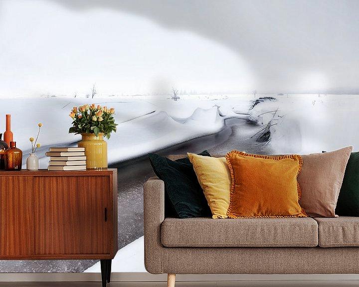 Sfeerimpressie behang: Winterlandschap Hoge Venen van Götwin van Bergen