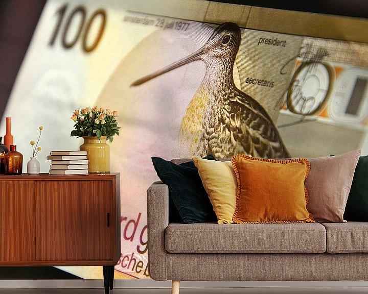 Beispiel fototapete: 100 gulden biljet - 100 guilder banknote von Wim Goedhart