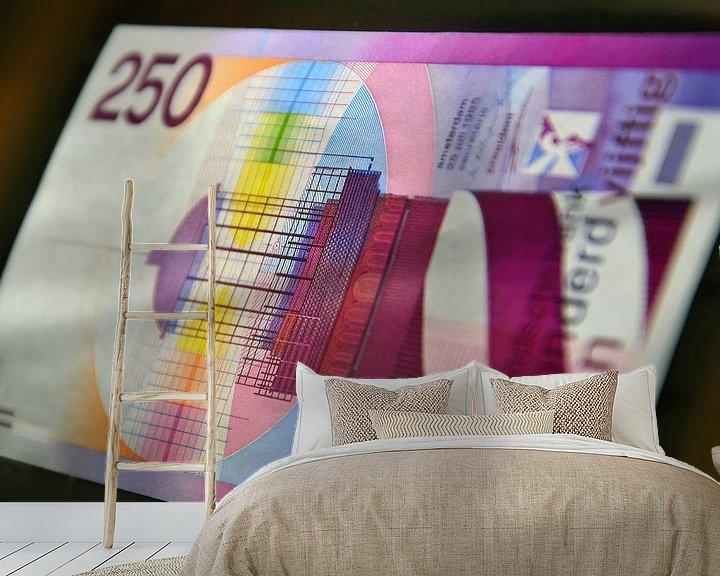 Beispiel fototapete: 250 gulden biljet - 250 guilder banknote von Wim Goedhart