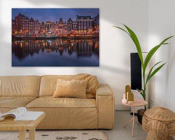 Grachtenpanden in Amsterdam von Herman de Raaf
