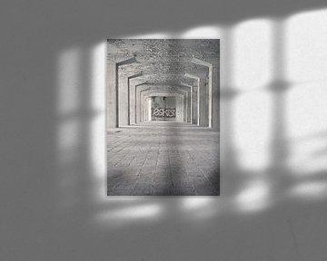 Verlaten plekken: Sphinx fabriek Maastricht Eiffelgebouw kolommen. von Olaf Kramer