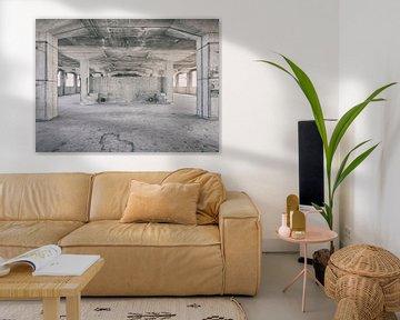 Verlaten plekken: Sphinx fabriek Maastricht Eiffelgebouw kolommen en bassin.. von Olaf Kramer