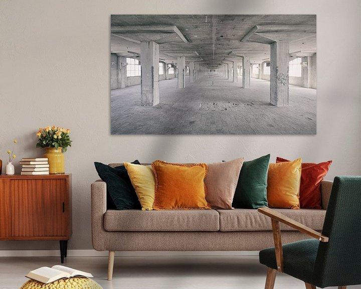 Sfeerimpressie: Verlaten plekken: Sphinx fabriek Maastricht Eiffelgebouw hal. van Olaf Kramer