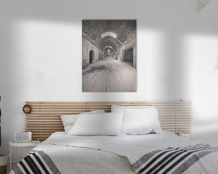 Beispiel: Verlaten plekken: Sphinx fabriek Maastricht gewelfde gang. von Olaf Kramer
