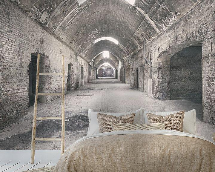 Beispiel fototapete: Verlaten plekken: Sphinx fabriek Maastricht gewelfde gang. von Olaf Kramer