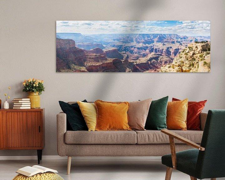 Sfeerimpressie: Panoramisch Uitzicht op de Grand Canyon USA van Frenk Volt