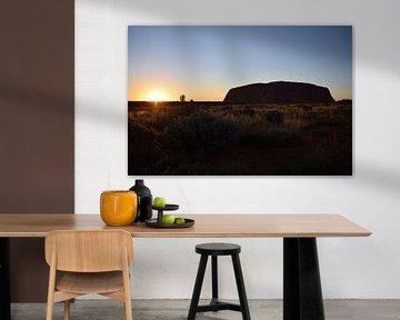 Uluru Zonsopkomst van Britt Lamers